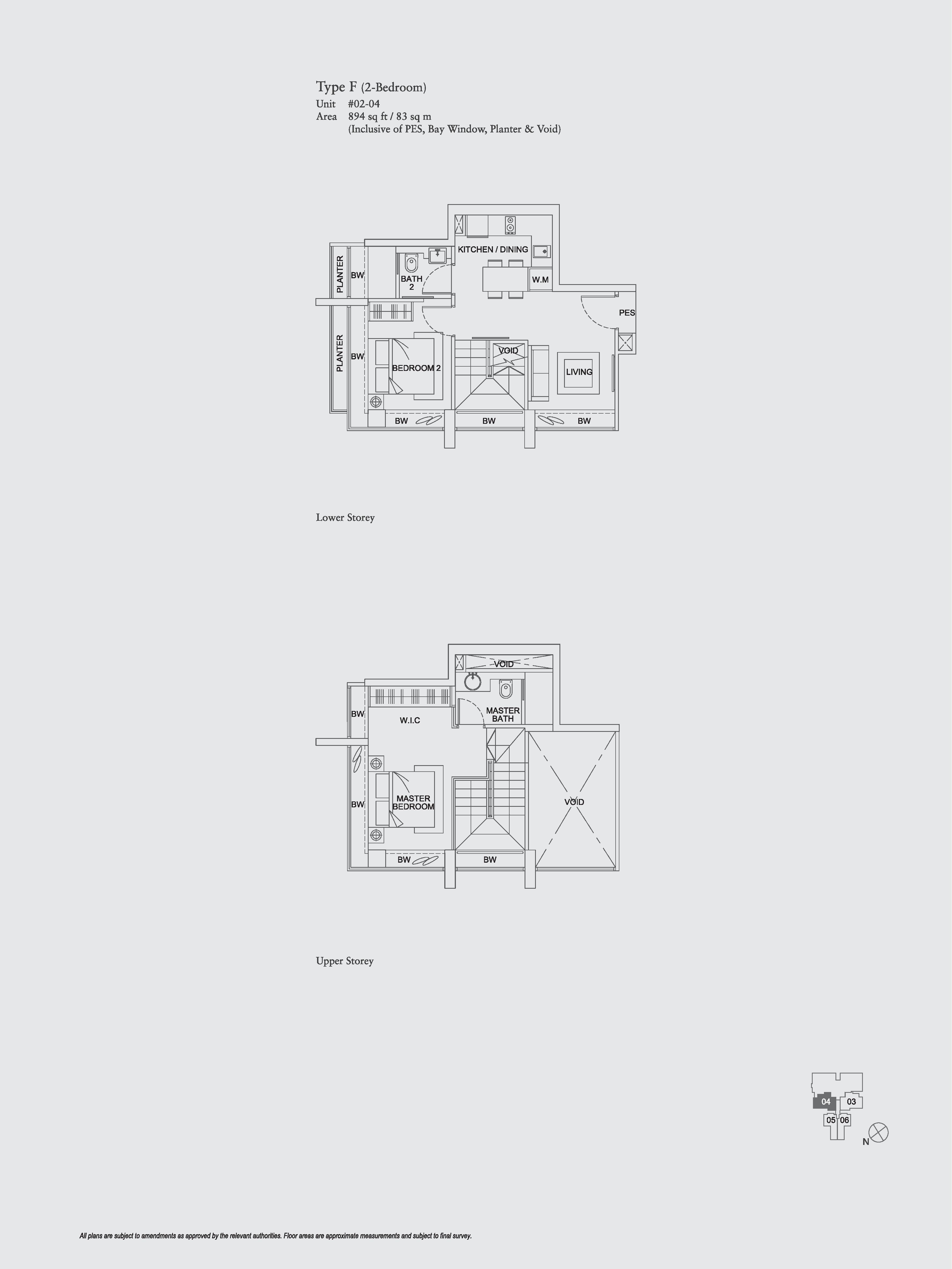 The Aristo 2 Bedroom Duplex Floor Plans Type F