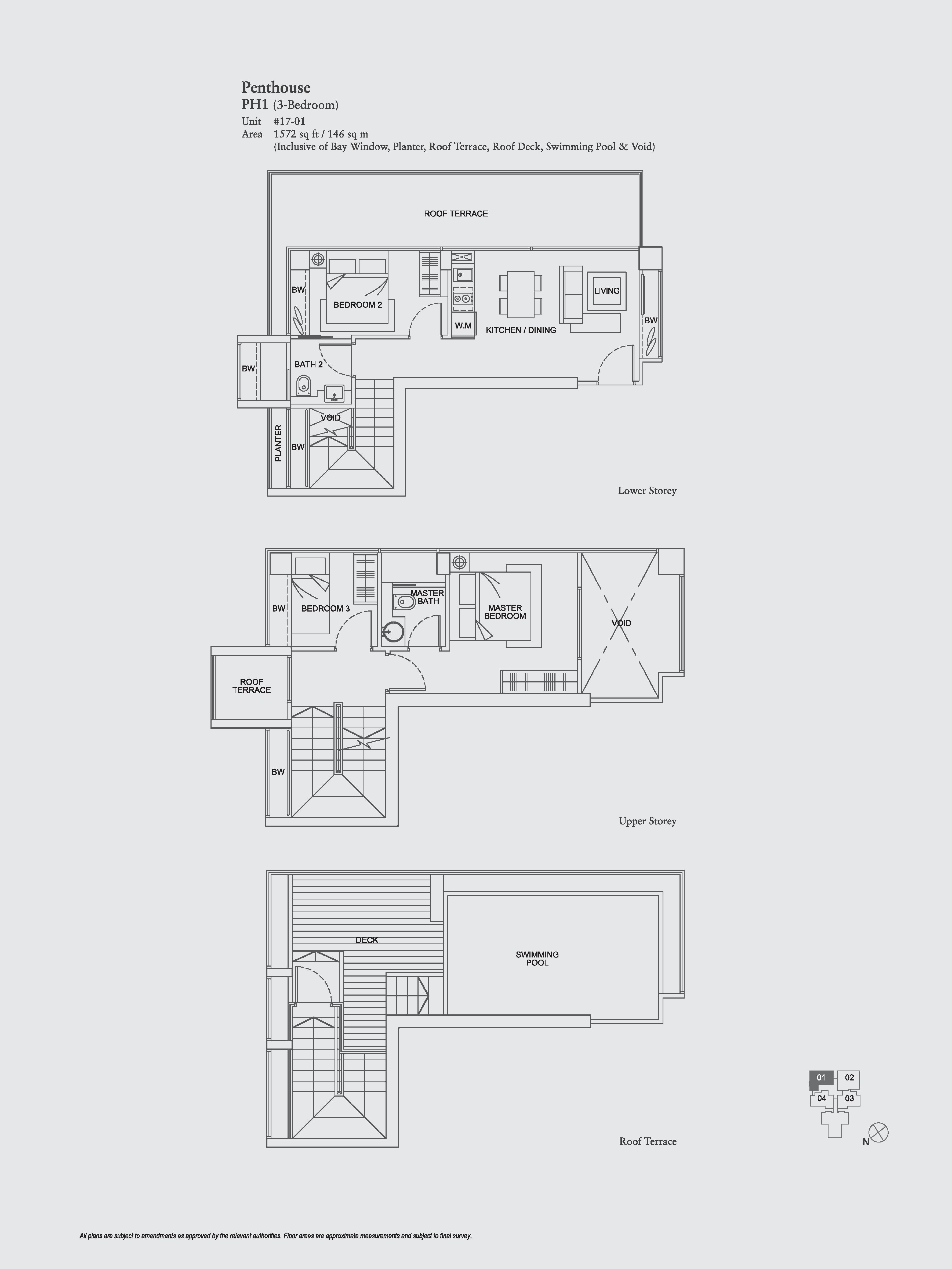 The Aristo 3 Bedroom Floor Plans Type PH1